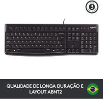 Teclado Logitech K120 USB PRETO - 920-004423 -