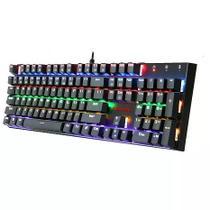 Teclado mecanico gamer redragon rudra rainbow switch outemu azul -