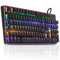 Teclado Mecanico Gamer Rgb Knup Kp2046 Usb Abnt2 Switch Blue
