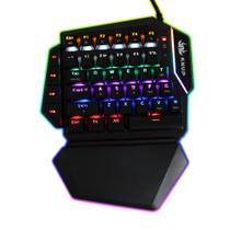 Teclado Mecânico Gamer Single Hand Rainbow Switch Outemu Blue Knup KP-2053