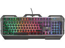 Teclado Membrana Gamer USB Trust - Torac Metal Gaming Keyboard Preto GXT 856