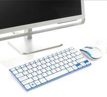 Teclado Mouse Sem Fio Wifi 2.4 Ghz Slim Ipad Tablet Galaxy Tab Usb super fino Elegante melhor material - Wlxy