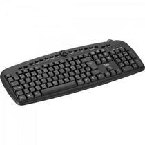 Teclado Multimidia USB MKL-101 Preto LITE -
