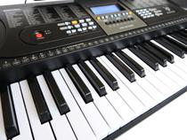 Teclado Musical 61 Teclas MK 2106 - Visor Lcd + Fonte + Suporte Partitura - Key Black