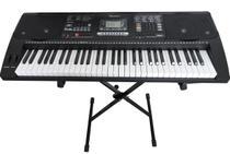Teclado Musical Arranjador 61 Teclas HK 812 - Profissional Sensitive + USB  + Suporte Pedestal+Fonte - Hkeyboard