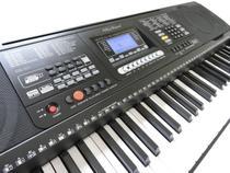 Teclado Musical Arranjador 61 Teclas HK 812 - Profissional Sensitive - USB -  Visor Lcd + Fonte - Hkeyboard