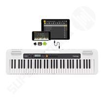 Teclado Musical CASIOTONE CT-S200 CASIO Branco 61 Teclas Aplicativo Chordana Play -