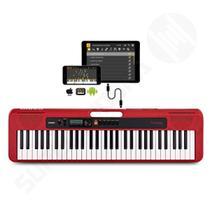 Teclado Musical CASIOTONE CT S200 CASIO Vermelho 61 Teclas Aplicativo Chordana Play -