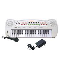 Teclado Musical Infantil Com Microfone e Fonte HS-999 - Dm Brasil
