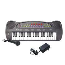 Teclado Musical Infantil HS-999 Com FONTE e Microfone - Dm Brasil