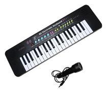 Teclado musical iniciante 37 teclas c microfone infantil - Importway