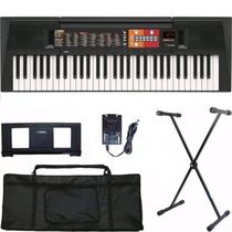 Teclado Musical Yamaha Psr f51 61 + Suporte + Capa -