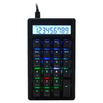 Teclado Numérico Mecânico Ducky Channel DKPO1623ST-BUSPDAAT1 Pocket RGB Cherry Brown -
