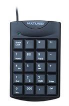 Teclado Numérico Multilaser Com Fio USB Preto - TC229 -