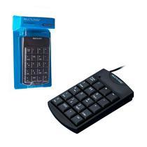 Teclado Numérico Multilaser TC229, USB, Preto -