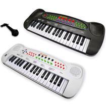 Teclado Piano Musical Infantil Com Microfone 37 Teclas - Dm Toys