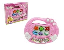 Teclado piano musical infantil educativo glam girls colorida - Wellmix