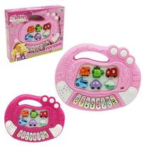 Teclado Piano Musical Infantil Educativo Glam Girls Colors A - Wellmix