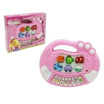 Teclado Piano Musical Infantil Educativo Glam Girls Wellkids -