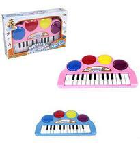 Teclado / piano musical infantil happy com luz a pilha na caixa wellkids - Wellmix