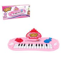 Teclado / piano musical infantil meu ritmo colors com luz a pilha na caixa wellkids - Wellmix