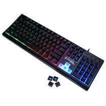 Teclado Semi Mecânico Gamer Bright 0541 Com Função Anti-Ghosting, Teclado retroiluminado -
