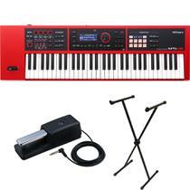 Teclado Sintetizador Roland XPS30 Vermelho + Estante + Pedal -
