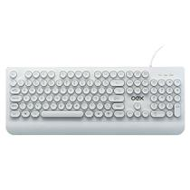 Teclado Usb Oex Pop In C/apoio P/digitação Teclas Arredondadas Branco TC401 -
