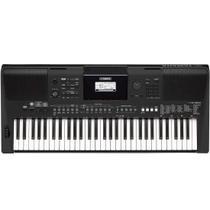Teclado Yamaha PSR-E463 - Com Fonte e Porta Partitura -