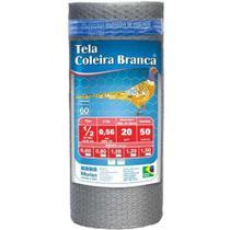 Tela Arame Viveiro Coleira Branca 1/2 Pol. x BWG26 x 60CM 50 Metros - MORLAN