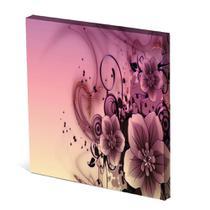 Tela Canvas 30X30 cm Nerderia e Lojaria flor roxa surreal colorido - Nerderia Presentes