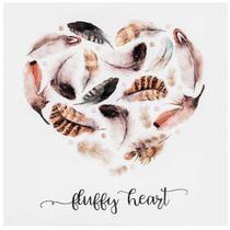 Tela Canvas e Fibra de Madeira Fluffy Heart 28 x 28 cm - Mart
