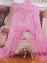 Tela de Mosquiteiro de Teto Casal Rosa Aro 3:50 x Altura 2:70 MT - Telma Megastore