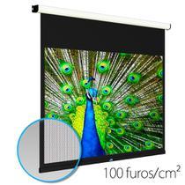 """Tela de projeção Elétrica Microperfurada 122"""" Formato 16:9 Gaia G1W-122 Bivolt -"""