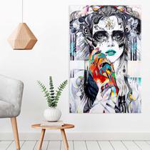 Tela Decorativa Abstrata Face - Love decor