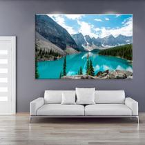 Tela Decorativa Lago e Montanhas - Love decor