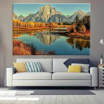 Tela Decorativa Montana e Lago - Love decor