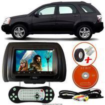 Tela Encosto de Cabeça 7 Polegadas Preto DVD USB SD Função Game com Controle GM EQUINOX - Tech One