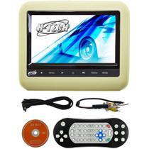 Tela Encosto De Cabeça Acoplável 7 Polegadas com leitor DVD H-tech Ea7 Bege -