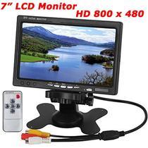 Tela Lcd 7 Polegadas Portátil Monitor Veicular Digital - Wd