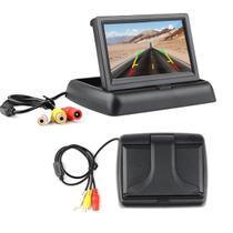 Tela Monitor Veicular Lcd Retratil 4.3 Pol Lcd Estaciona Ré - UP CAR ACESSÓRIOS