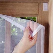 Tela Mosquiteira Anti Mosquito Insetos para Janelas com Fita Adesiva 150cm x 150cm - Mundo Thata
