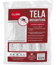 Tela mosquiteira para janela 1,3x1,5 metros com adesivo - Clink -
