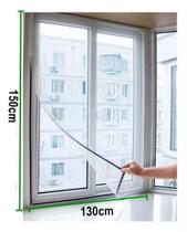 Tela Mosquiteira Porta Janela Cortina Magnética Ajustável Protetora Contra Inseto Mosquito 130cm x 150cm -
