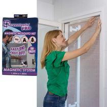 Tela Mosquiteiro  Cortina Magnética Protetora Contra Insetos - Rpc
