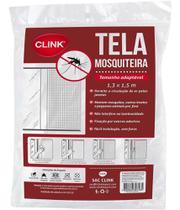 Tela Mosquiteiro Proteção Janela 130cm X 150cm Com Fita - Clink