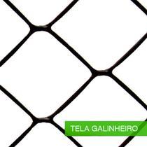 Tela Plastica Nortene Galinheiro 1,0m Preta 50m  90250991lsp - Rcdeletrica