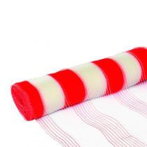 Tela Plastica Sinalizacao Valeplast Branca/Laranja 1,2mx50m -