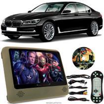 Tela Portátil Encosto De Cabeça DVD Monitor C/ Tela 9 Pol usb Sd BMW 750li Oferta - Tech One