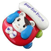 Telefone Baby Brincar (Gato) - Bbr Toys -